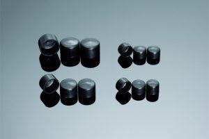 SHIN YO Abdeckkappen für Schrauben und Muttern, M8, schwarz (5 Stück)