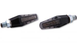 SHIN YO LED-Blinker GILL, schwarz, getöntes Glas, Paar, E-gepr.