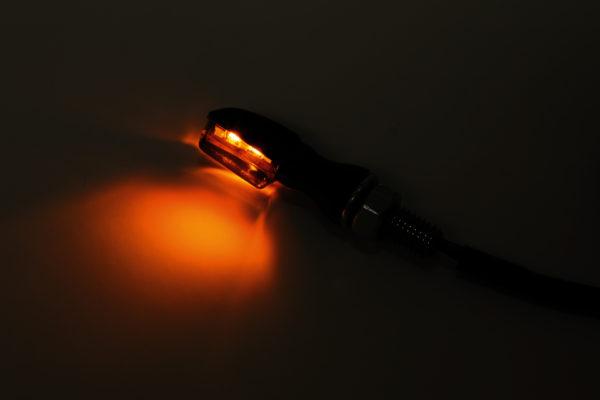 shin_yo SHIN YO LED-blinkers SPARK, svart, rökfärgat glas