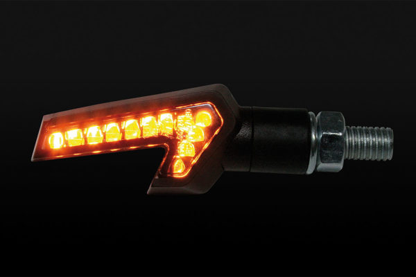 shin_yo SHIN YO LED-blinkers STRADA, svart, E-märkt