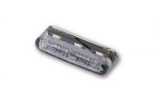 shin_yo SHIN YO LED-inbyggnadsblinkers  SHORTY 2 PRO, rökfärgat glas, E-märkt