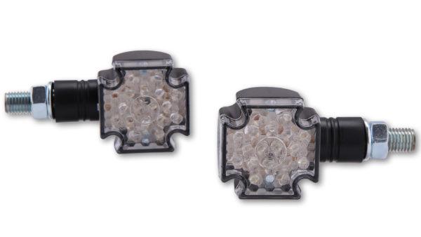 verchromt kurzer Stiel SHIN YO LED-Mini-Blinker CROSS E-geprüft nur für hinte
