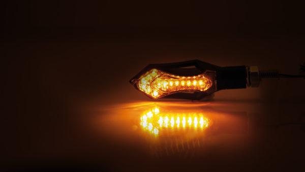 shin_yo SHIN YO LED-blinkers HATCH, svart hus