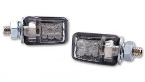 SHIN YO LED-Blinker PICCO, verchromt - schwarz