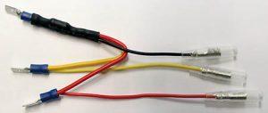 shin_yo SHIN YO motstånd med adapterkabel för LED-bakljus, 6,3 mm flatkontakt