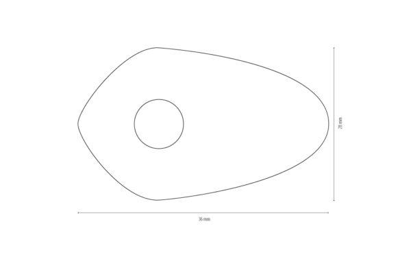 shin_yo Płyty montażowe INDY SPACER do różnych DUCATI MONSTER 696/796/1100/EVO, zestaw