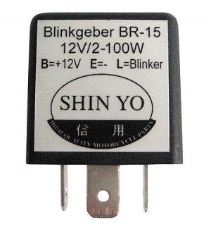 shin_yo Przekaźnik flasherowy SY-02, 3-biegunowy, 12 VDC, 1-100 W