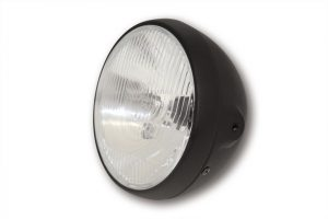 shin_yo SHIN YO British-Style svart strålkastare 7 tum, H4, E-märkt