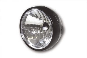 SHIN YO strålkastare, 6 1/2 tum metallhus mattsvart, med positionsljus