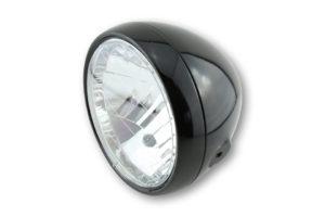 shin_yo SHIN YO strålkastare, 6 1/2 tum metallhus svart, med positionsljus, krom ram