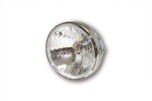 SHIN YO 7 tum strålkastare RENO 2, krom, klart glas