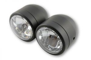 Scheinwerfer-Set, Fern + Abblendlicht - schwarz