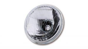 SHIN YO H4 Einsatz 5 3/4 Zoll mit Standlicht, geprägtes Glas, E-gepr.