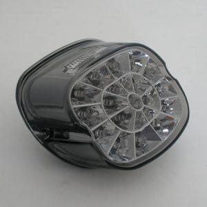 shin_yo SHIN YO LED-bakljus, rökfärgat glas och kromreflektor, för viele HD-modeller 1973-1998