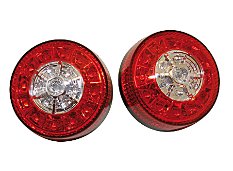 shin_yo Dioda LED na ogonie, światło hamowania, kierunkowskaz do ATV, czarna