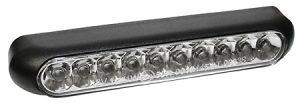 shin_yo SHIN YO LED-bakljus LINE, svart, transparent glas, regskyltsbelysning
