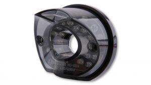 shin_yo SHIN YO LED-bakljus MADISON, svart rund basplatta, rökfärgat glas