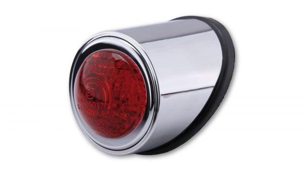 shin_yo SHIN YO LED-bakljus OLD SCHOOL TYP1, svart, rött glas, E-märkt