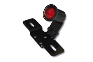 shin_yo SHIN YO LED-bakljus OLD SCHOOL TYP3, svart, rött glas, med Nr.-Schildhållare