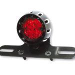 SHIN YO LED-Rücklicht MILES, schwarzes Gehäuse, rotes Glas