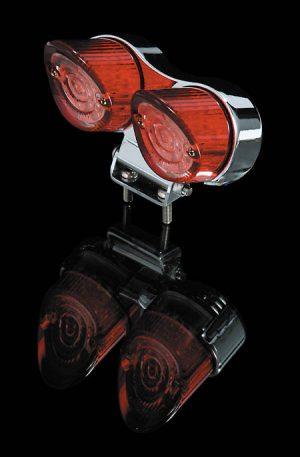 shin_yo SHIN YO LED-Mini-bakljus, rund, med hållare, transparent glas, förkromad