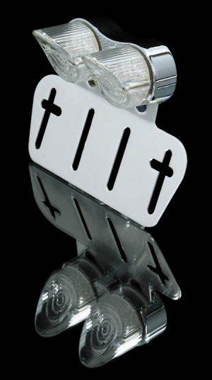 shin_yo SHIN YO LED-Mini-bakljus NOSE, med Nummernhållare, transparent glas, förkromad