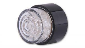 shin_yo SHIN YO LED-Mini-bakljus BULLET, rund med svart hus