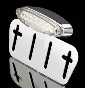 shin_yo SHIN YO LED-Mini-bakljus transparent, med regskyltshållare, förkromad