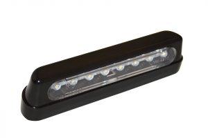 shin_yo SHIN YO LED-regskyltsbelysning, ABS svart, lang